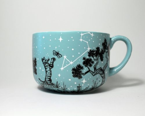 lion constellation mug