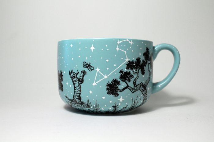lion constellation mug