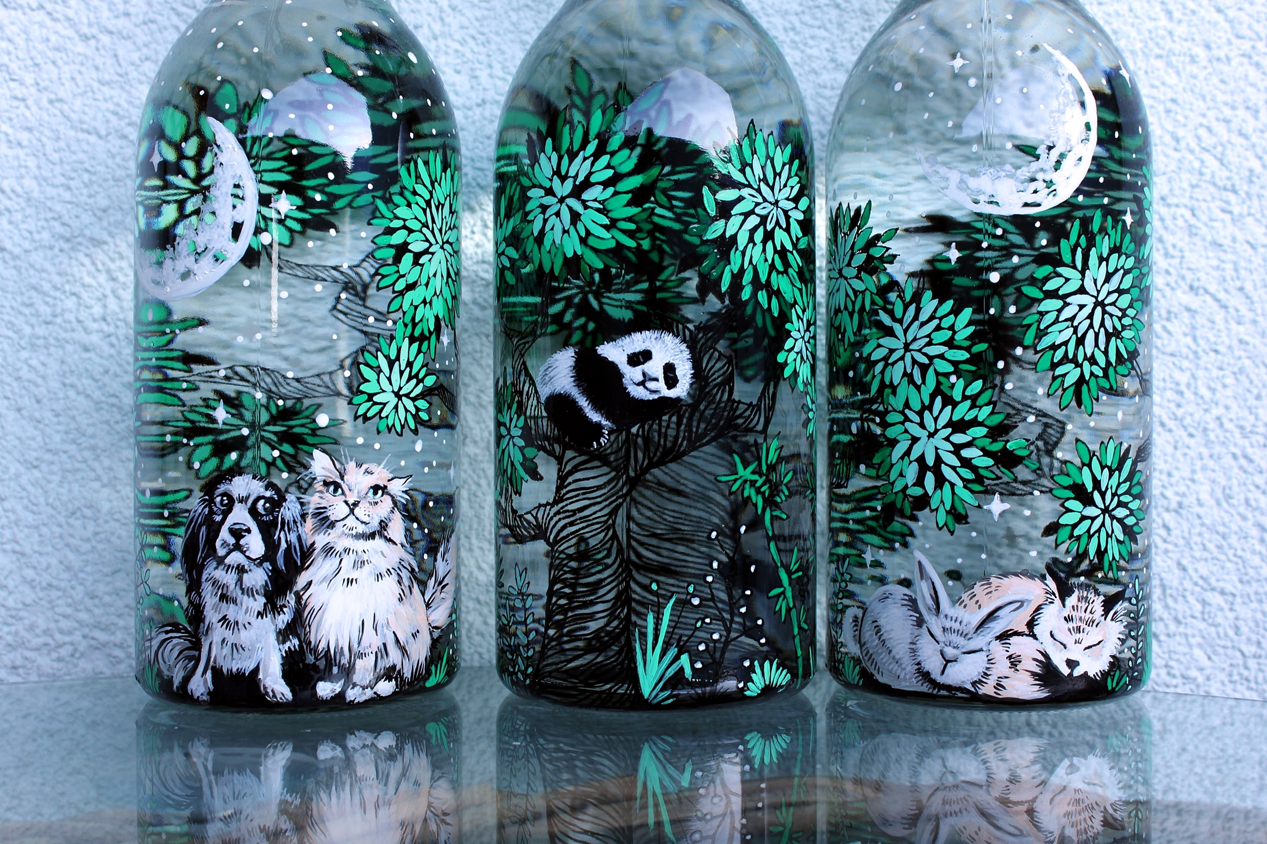 Panda Water Bottle Shewolfka