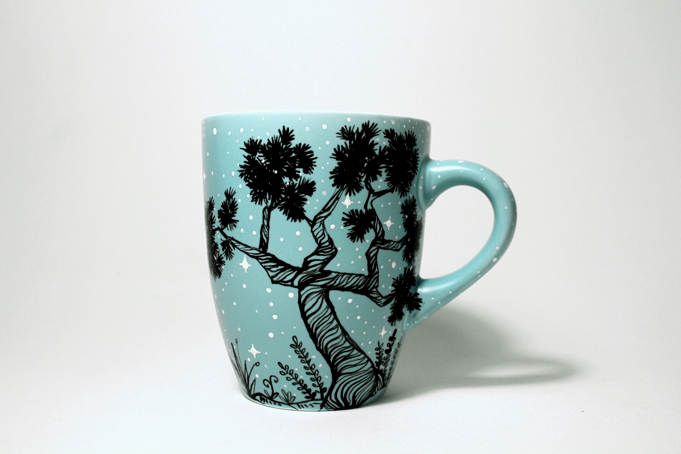 Girl With Sleeping Wolf And Humming Bird Mug Shewolfka