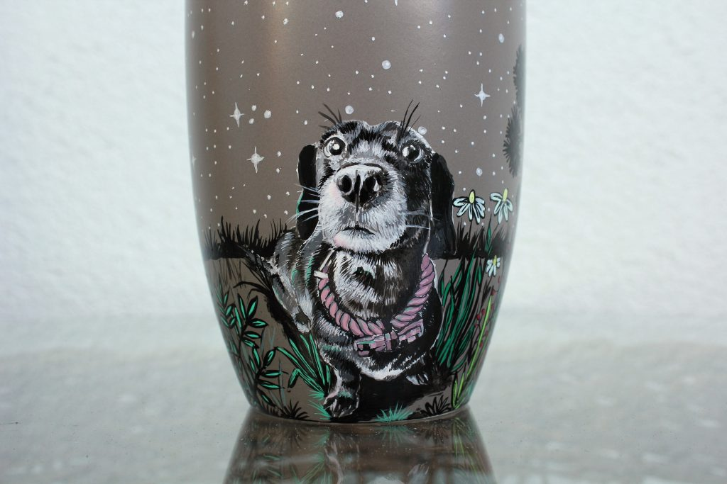 Custom Pet Coffee Mug With Favorite Moon Forest Shewolfka