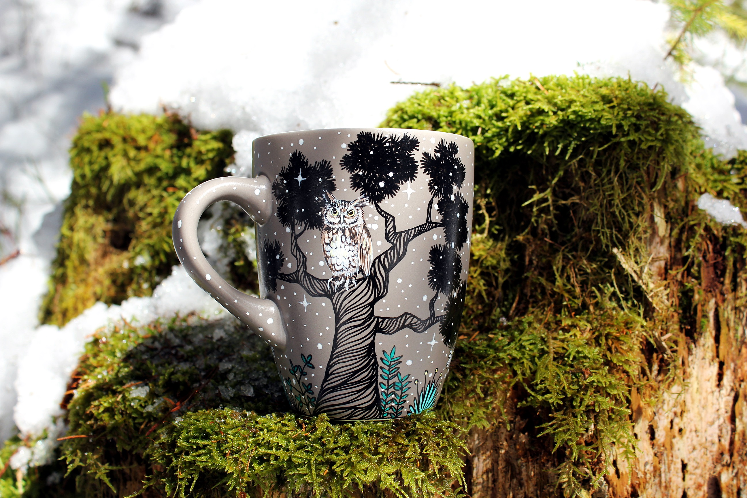 Custom Forest Animals Coffee Mug Shewolfka