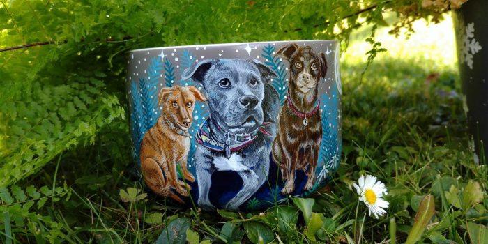 moon forest mug, coffe addict, tea mug, ceramic gift, hand painted animals, pet art, animal artist on etsy, animal art, illustration, nature art, pottery, custom art 4