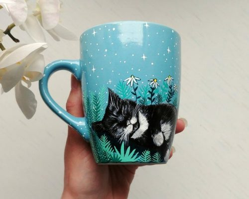 Cute Cat Coffee Mug - Shewolfka